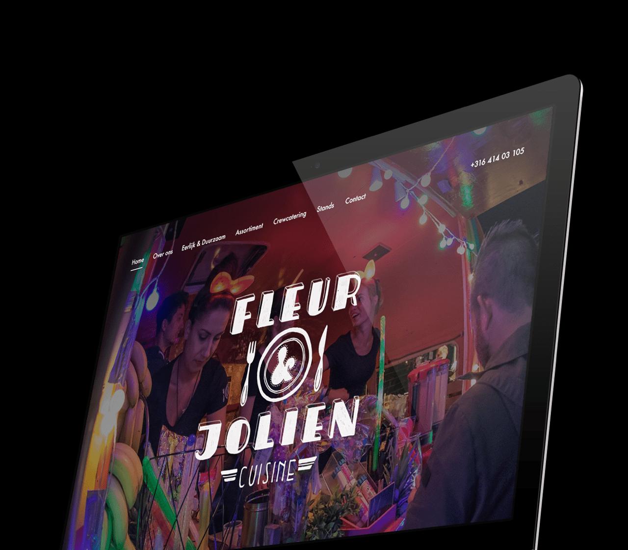 Fleur en Jolien Cuisine website design