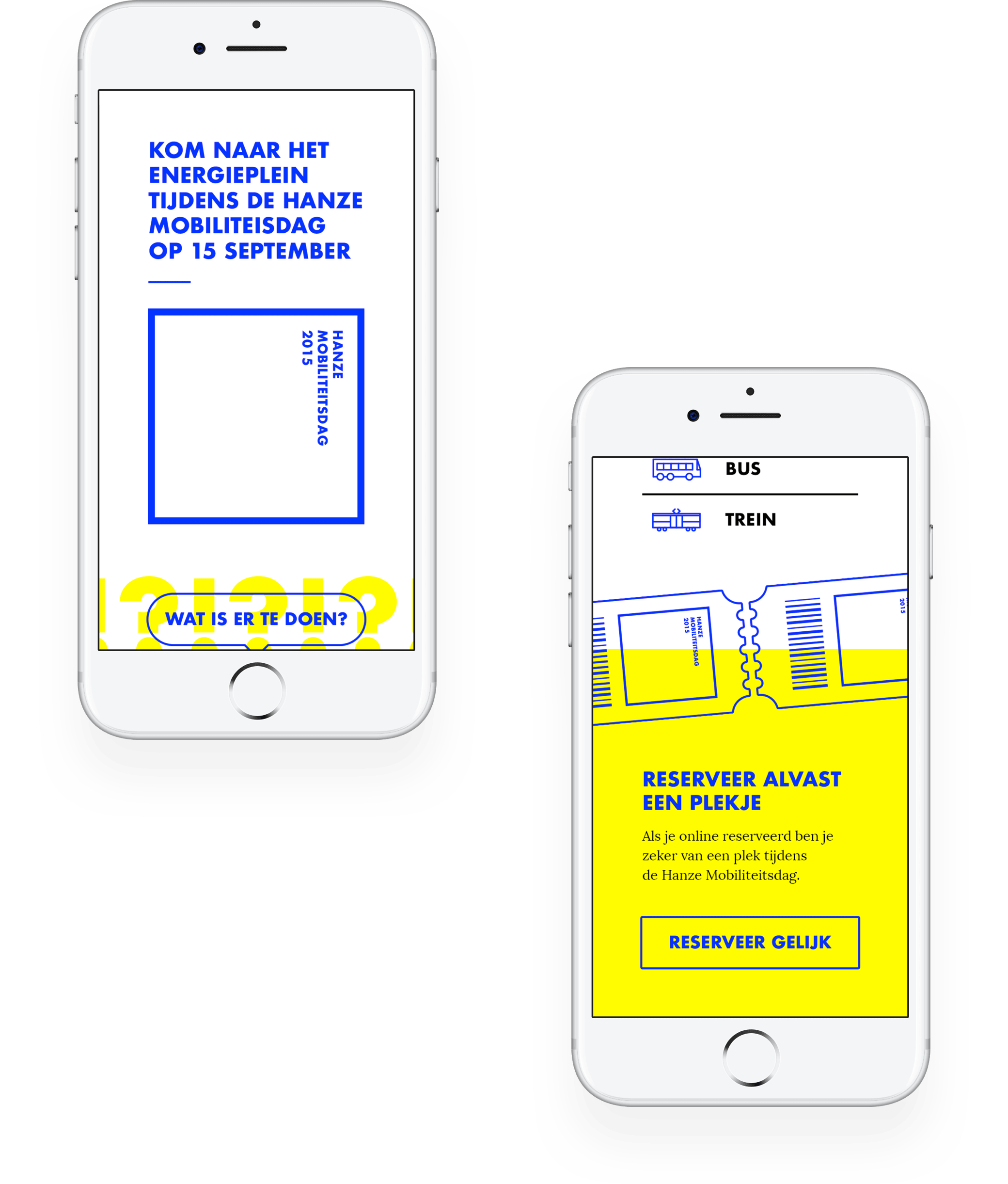Hanze Mobiliteitsdag Mobile Website